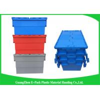 Quality Turnover Logistics Opaque Plastic Attached Lid Containers For Foods , Textile for sale