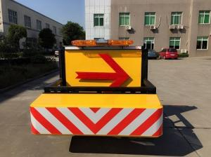 Quality Buzzer Aluminium Traction Type Mobile Vehicle Barrier Anti Collision for sale