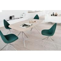 Quality Boconcept Ottowa chair by Karim Rashid with assemble stainless steel leg ottoma chair in aniline leather finish for sale