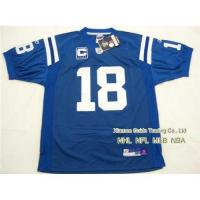 Quality New NFL Indianapolis Colts #18 Peyton Manning Blue Jersey for sale