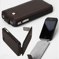 China Full body Black Flip PU Leather Protective iphone 5 Cases with logo printing on sale