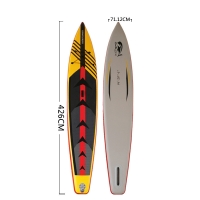 Quality Double Layer PVC 167x28 Inch Racing Inflatable SUP Board for sale