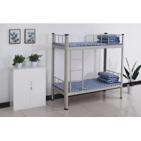 Quality Knocked Down Steel Bunk Bed Dormitory Apartment Army Bunk Bed for sale