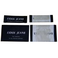 China Luxury design High density Custom color Clothing Woven Labels For Gloves on sale