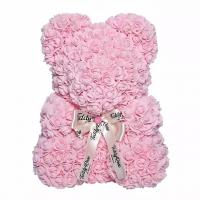 China Hot Selling Wholesale Foam / PE Handmade Artificial Flowers Rose Bear for Valentine Day Gift 40cm on sale