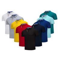 Quality Embroidered  Quick Dry Slim Fit Work Polo Shirts  Cotton Plain Solid Color Classic Design for sale