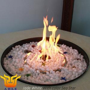 China Gas Firestones Fire Glass Chips FG-A06 Fire Pit Glass Rocks Like Diamond on sale