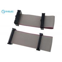 Quality 2*10pin IDC To 20pin Idc2.54 Pitch Female Flat Flex Ribbon Cable With Machine Strain Relief for sale