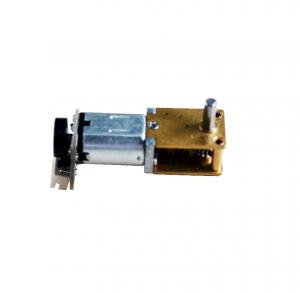 China N20 brush DC motor attached with worm gear box and magnet encoder on sale