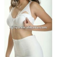 Quality OEM ODM Sexy White 82% Ployster 18% Cotton Supportive 40H Padded Underwire Nursing Bra for sale