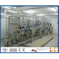 Buy cheap 2000L/H ISO standard SUS304 UHT long shelf life pure milk production line for aseptic carton box with PLC control product