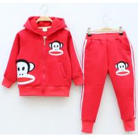 Quality Cotton boys and girls two-piece set sweater and pants with hoody for sale