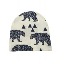 Quality Multi Color Winter Knit Cap / Cool Kids Knitted Hats Warm Animal Pattern for sale