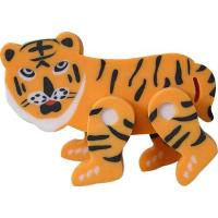 DIY eraser in tiger shape