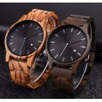 Buy cheap Auto Date Wooden Watches OEM Men Wrist High Quality Japan Movement Quartz Watch from wholesalers