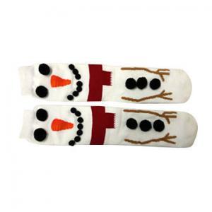 China Custom logo, design 100% cotton 3D socks for holiday on sale