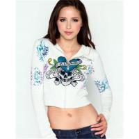 """Buy cheap Women's Specialty Knitted Crop Hoody """"Love Kills Slowly"""" from wholesalers"""