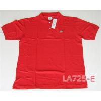 China Paypal Lacoste Solid Color Polo Shirts on sale