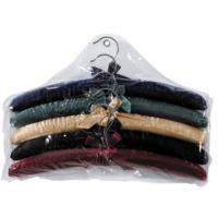 Quality more colors choice  for luxury Sponge Satin  cotton padded clothes hanger for girl and women for sale