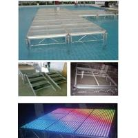 China Recycled Tempered Glass Aluminium Stage Platform , Wedding Party Modular Stage Platform on sale