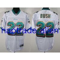 Quality Jerseys Wholesale 100% Nylon Mesh Miami Dolphins 22# Reggie Bush Authentic White Jerseys Wholesale free shipping and mix order for sale