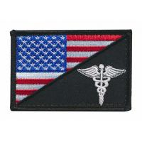 Quality Embroidered Fabric Custom Shoulder Patches Stick On Sew On Logo Badges for sale