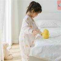 China Infants Toddlers Long Sleeves Muslin Baby Pajamas Baby Jumpsuits With Safety Printing on sale