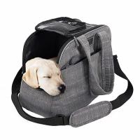 China Polyester / Canvas Puppy Airline Carrier Bag , Soft Sided Dog Crates Airline Approved on sale
