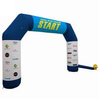Quality Outdoor Promotional Advertising Gifts Inflatable Race Arch With Air Blower for sale