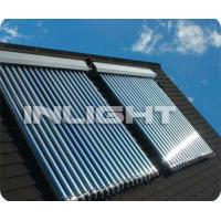 China PU Foam Coating Heat Pipe Solar Collector Hotel Evacuated Tube Solar Water Heater on sale