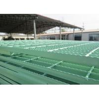 Quality PVC Coated / Galvanized Serrated Grating For Electricity / Petrochemical for sale