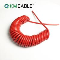 Quality High Flexible 6 Conductor Coiled Cable , Copper Spiral Power Cable for sale