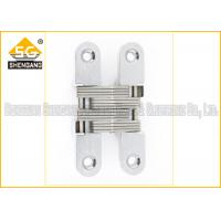 Quality Furniture Hardware Zinc Alloy Soss Invisible Hinges , Wardrobe Door Hinges for sale