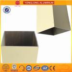 Quality Rectangle Powder Coated Aluminium Extrusions / 6063 6063A Aluminum Window Frame Profile for sale