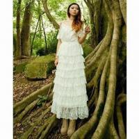 Quality Forest Fairy Series Sweet White Lace Bridal Gown for sale