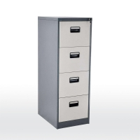 Quality Office Document Dark Grey Four drawer Shallow Depth Filing Cabinets for sale
