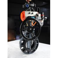 Quality good price high quality 2'' 3'' 4''PVC pneumatic butterfly valve with manual operator warranty 1 year for sale