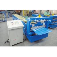 Quality 3kw Blue Corrugated Roofing Sheet Roll Forming Machine With Chrome Plated for sale