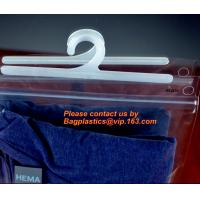 Quality Disposable Laundry Bags , Vinyl Underwear Packing Hanger Hook Bags for sale