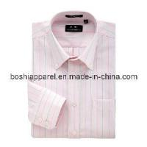 China Stripe Men Shirt -- Long Sleeve Shirt (SHM 03) on sale