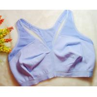 Quality OEM Nylon / Cotton  Anti - Bacterial Running Front Closure Sports Bra for sale