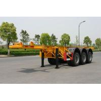 Quality 40ft Carbon-steel Skeletal Container Trailer Chassis (Rear 3 FUWA axles) for sale