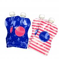 China Reusable Baby Food Spout Pouch Packaging Laminated Material CMYK Color For Beverages on sale