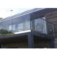 China Mirror balcony stainless steel railing design with aluminum u channel glass on sale