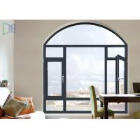 Quality A Rated Storm Impact Arched Aluminium Windows , Soundproof Aluminium Curved Windows for sale