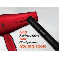 Buy cheap Red Cordless Rechargeable Hair Straighteners Flat Iron With USB Charger product