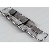 Quality Stainless Steel Foldable Stretcher , Adjustable Length Scoop Emergency Stretcher for sale