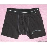 Quality Black Production Cotton / Polyester Soft Boxers Breathable Personalised Underwear For Men for sale