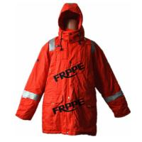 China Red Anti static FR Flame Resistant Winter Jackets With Reflective Tape on sale