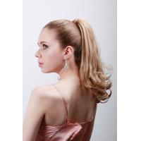 Quality Custom Blond Hair Human Pony Tail Wigs and Extension for Ladies for sale